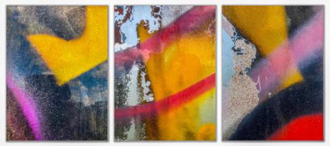 Drieluik abstracte fotografie