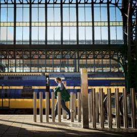 Naar de trein