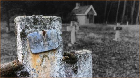 Kerkhof met kruis